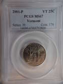 2001 P Vermont Quarter Clad MS67 PCGS - SKU 775G