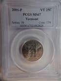 2001 P Vermont Quarter Clad MS67 PCGS - SKU 776G