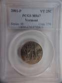 2001 P Vermont Quarter Clad MS67 PCGS - SKU 777G