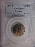 2001 P Vermont Quarter Clad MS67 PCGS - SKU 778G