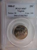2000 P Virginia Quarter Clad MS67 PCGS - SKU 779G