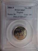2000 P Virginia Quarter Clad MS67 PCGS - SKU 780G