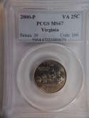 2000 P Virginia Quarter Clad MS67 PCGS - SKU 781G