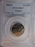 2000 P Virginia Quarter Clad MS67 PCGS - SKU 783G