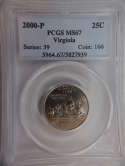 2000 P Virginia Quarter Clad MS67 PCGS - SKU 790G