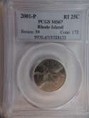 2001 P Rhode Island Quarter Clad MS67 PCGS - SKU 791G