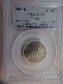 2004 D Texas Quarter Clad MS67 PCGS - SKU 796G