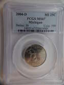 2004 D Michigan Quarter Clad MS67 PCGS - SKU 800G