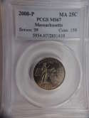 2000 P Massachusetts Quarter Clad MS67 PCGS - SKU 804G
