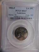 2002 P Louisiana Quarter Clad MS67 PCGS - SKU 807G
