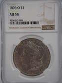 1896 O Morgan Silver Dollar AU58 NGC - SKU 836G