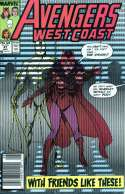 Avengers West Coast #47 Cant have the vision Near Mint (NM) Marvel 1989 SKU 6CS