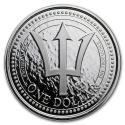 2018 Barbados 1 oz Silver Trident Coin (BU)