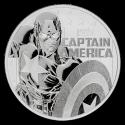 2019 1 oz Tuvalu Silver Captain America (BU)