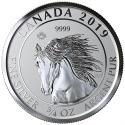 2019 3/4 oz Canada Silver Wild Horse Coin Reverse Proof