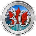 2018 1 oz Canada Silver Maple 30th Anniversary Colorized (In Capsule)
