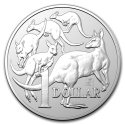2019 1 oz Australia Silver Kangaroo with Merlion Privy (In Capsule)