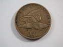 1857 1C Flying Eagle Cent Very Fine (VF) Penny SKU 10010USC