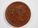 1856 Braided Hair Large Cent Upright 5 Extra Fine (XF) Penny SKU 10022USC