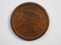 1854 Braided Hair Large Cent  Very Fine (VF) Penny SKU 10024USC