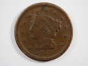 1853 Braided Hair Large Cent  Very Good (VG) Penny SKU 10025USC