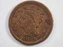 1854 Braided Hair Large Cent  Very Fine (VF) Penny SKU 10026USC
