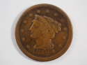 1852 Braided Hair Large Cent  Fine (F) Penny SKU 10029USC