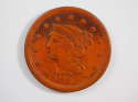 1853 Braided Hair Large Cent Red Extra Fine (XF) Penny SKU 10030USC