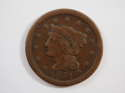 1851 Braided Hair Large Cent  Fine (F) Penny SKU 10033USC