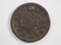 1849 Braided Hair Large Cent  Very Fine (VF) Penny SKU 10036USC