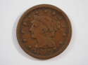 1847 Braided Hair Large Cent  Very Good (VG) Penny SKU 10040USC