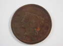 1843 Braided Hair Large Cent Petite Head & Small Letters Fine (F) SKU 10050USC