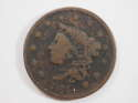 1835 Coronet Head Large Cent Head of 1836 Very Good (VG) Penny SKU 10061USC