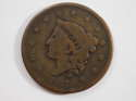 1837 Coronet Head Large Cent Medium Letters Very Good (VG) Penny SKU 10062USC
