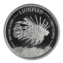 2019 Barbados 1 oz Silver Lionfish BU (In Capsule)