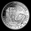 2018 1 oz Somalia Silver Elephant 15th Anniversary Jubilee BU (In Capsule)