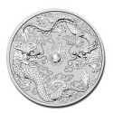 2019 1 oz Australia Silver Double Dragon BU (In Capsule)