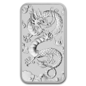2019 1 oz Australia Silver Dragon Rectangular Bar Coin (BU)