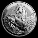 2019 1 oz British Virgin Islands Silver Pegasus Reverse Frosted BU