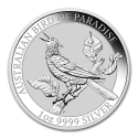 2019 1 oz Australian Silver Bird of Paradise Manucodia BU