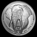 2019 1 oz South Africa Silver Big Five Elephant Coin (BU)