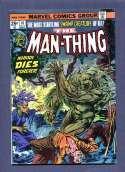 The Man-Thing #10 Nobody Dies Forever  VF Marvel 1974 SKU 361CS