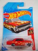 2019 Hot Wheels 66 Chevy Nova Red HW Flames #143 New