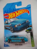 2019 Hot Wheels 92 Ford Mustang Blue Speed Blur #152 New
