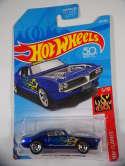 2018 Hot Wheels Custom 67 Pontiac Firebird Blue HW Flames #324 New