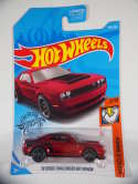 2019 Hot Wheels 18 Dodge Challenger SRT Demon Red Muscle Mania #194 New