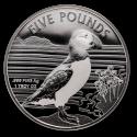 2019 1 oz Alderney Silver Puffin BU