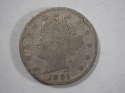 1891 P Libery Head Nickel About Good (AG) - SKU 4-0881-USN