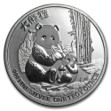 2017 1 oz Niue Silver $2 Panda Coin with Light Spotting