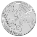 2019 1 oz Niue Silver Star Wars: Darth Vader BU